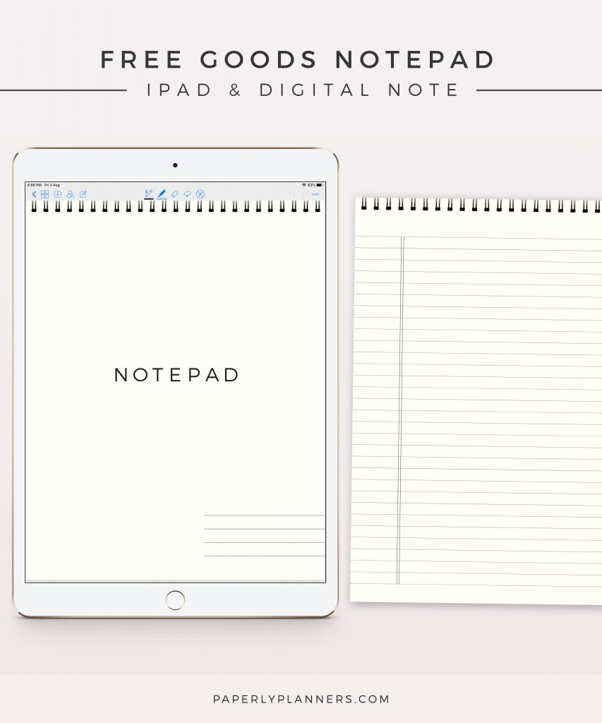 Free Goods Notepad Image 01