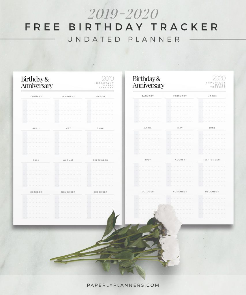 Subscription Gift Birthday Tracker