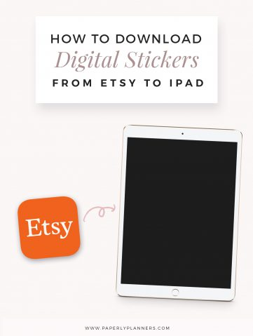How to Download Digital Stickers purchased via Etsy